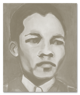 Portrait of Nelson Mandela when he was young